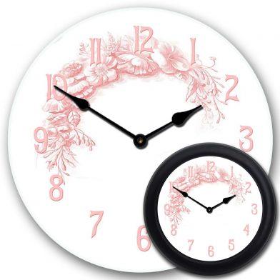 Shabby Chic Pink Clock mix