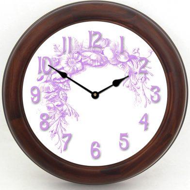 Shabby Chic Purple Clock brn frm2