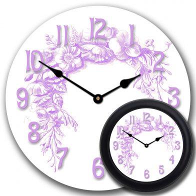 Shabby Chic Purple Clock mix2