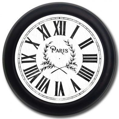 Simply Paris Clock blk frm