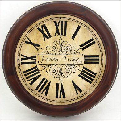 Tuscan Villa Clock brn frm
