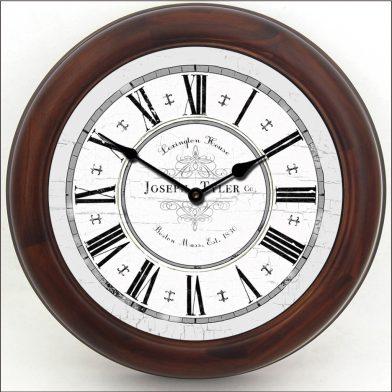 Vermont Gray Clock brn frm