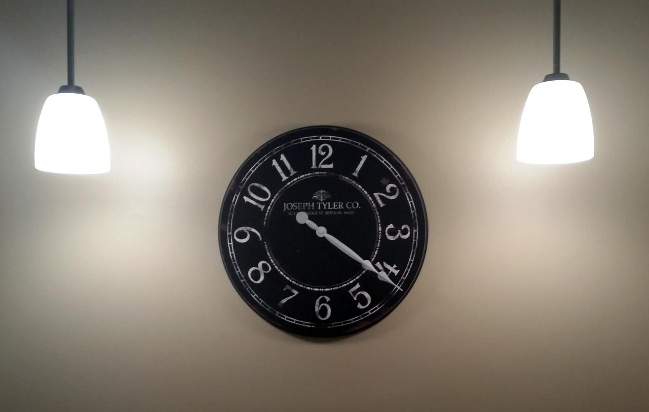 Black Large Wall Clock