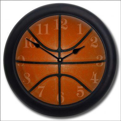 Basketball Clock blk frm