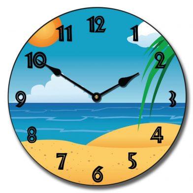 Beach 3 Clock