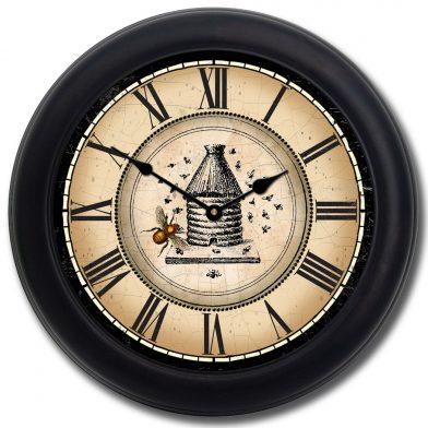 beehive-clock-blk-frm