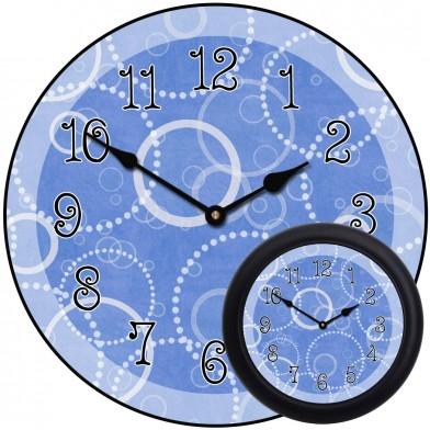 Blue Circles Clock mix