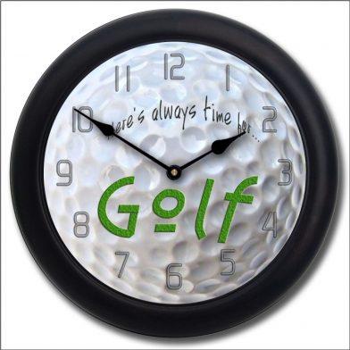 Golf Clock blk frm