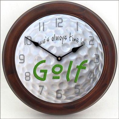 Golf Clock brn frm