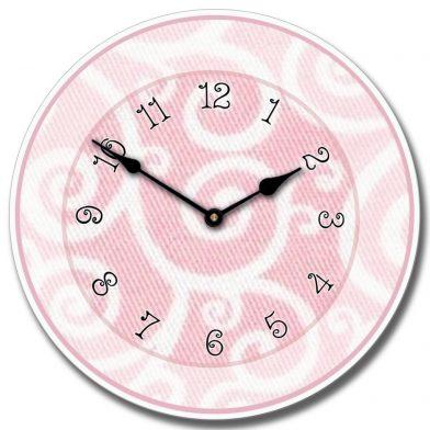 Light Pink Swirl Clock