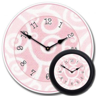 Light Pink Swirl Clock mix