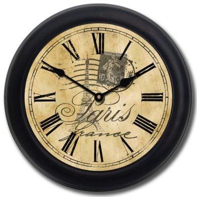 Paris Clock blk frm