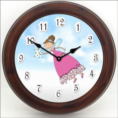 Pink Princess Wand Clock brn frm