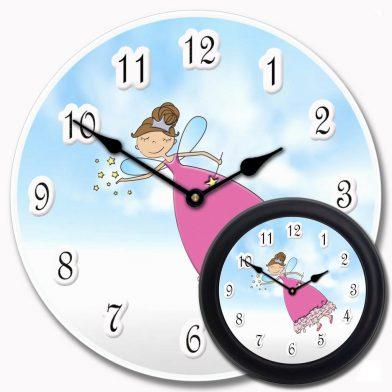 Pink Princess Wand Clock mix