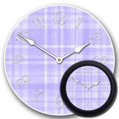 Purple Plaid Clock mix