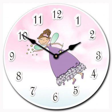 Purple Princess Wand Clock