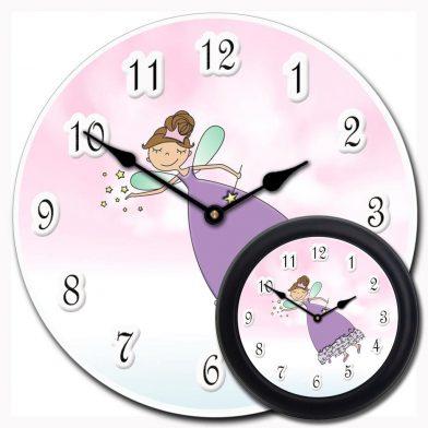 Purple Princess Wand Clock mix