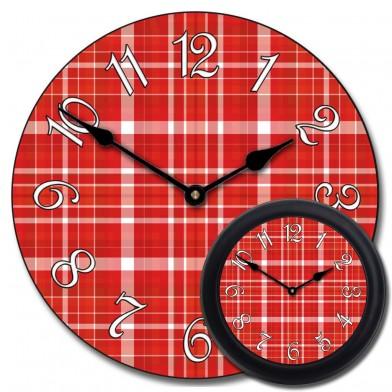 Red Plaid Clock mix