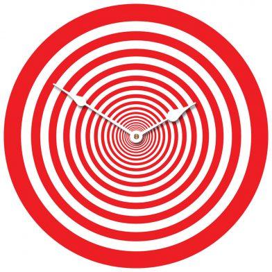 Red Target Clock