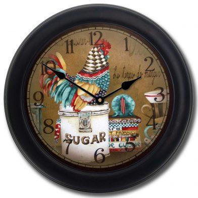 Sweet Hen Clock blk frm