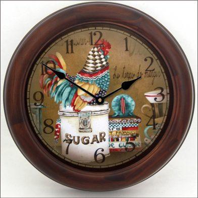 Sweet Hen Clock brn frm