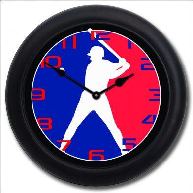 Baseball 3 Clock blk frm