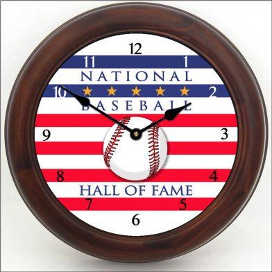 Baseball Hall of Fame Clock brn frm