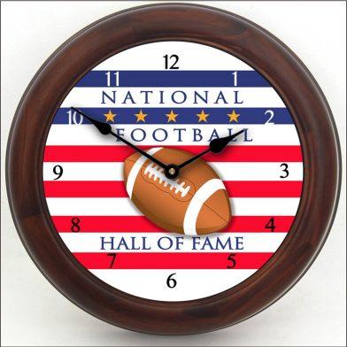 Football Hall of Fame Clock brn frm