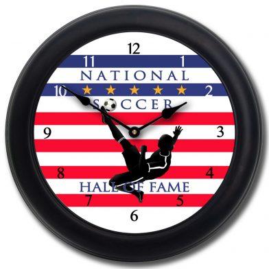 Soccer Hall of Fame 2 Clock blk frm