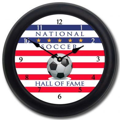 Soccer Hall of Fame Clock blk frm