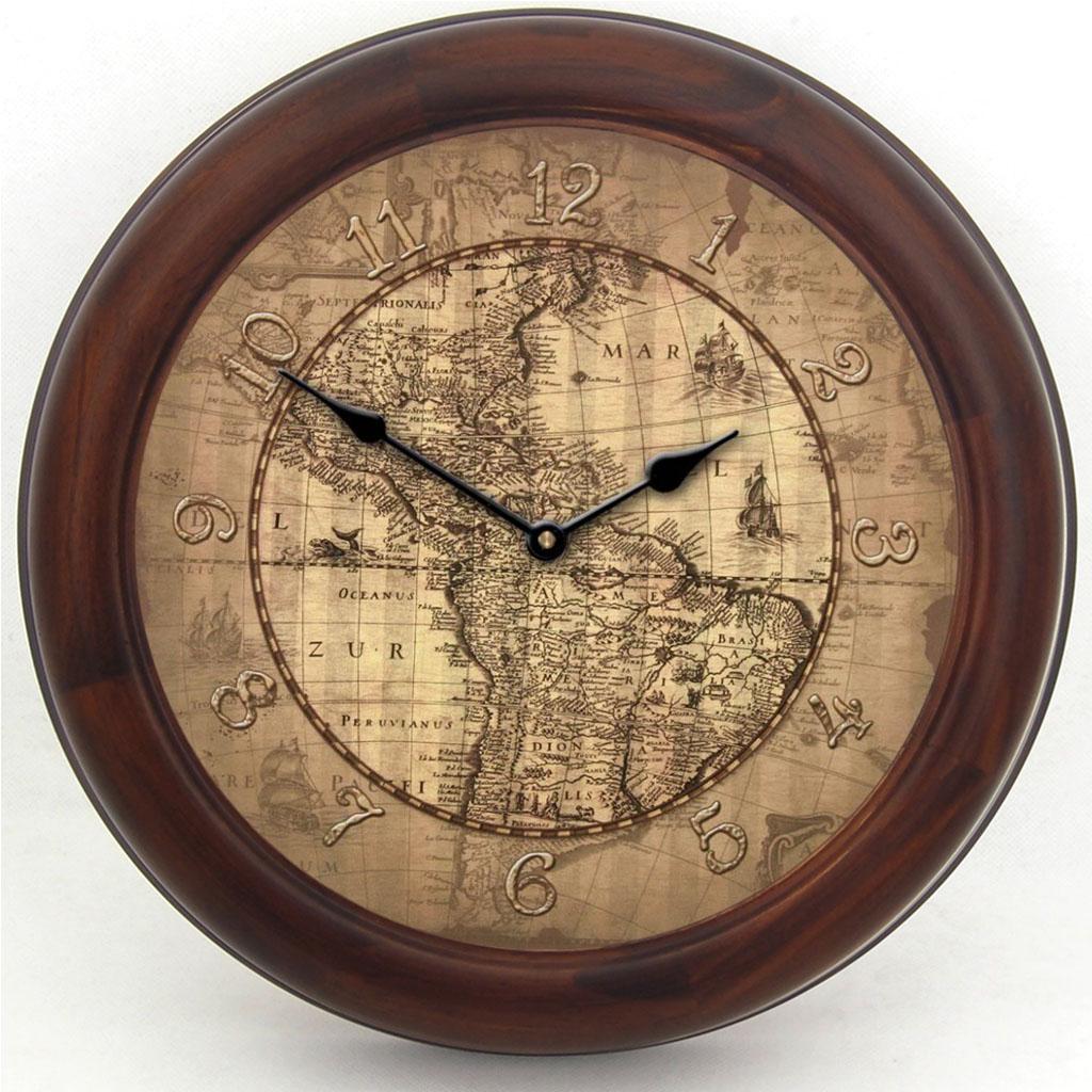 Th Century Parchment Map Clock The Big Clock Store - Us parchment map