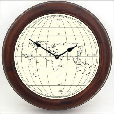 Streamline Map Clock brn frm