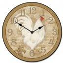 White French Hen Clock