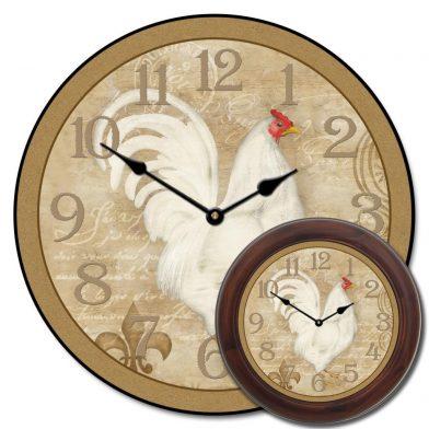 White French Hen Clock mix