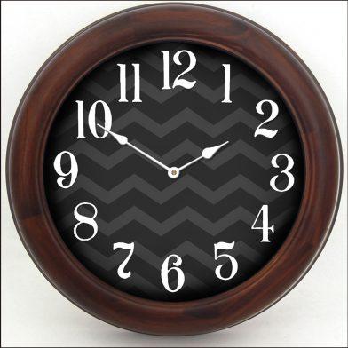 Chevron Black Clock brn frm
