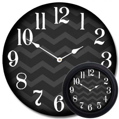 Chevron Black Clock mix