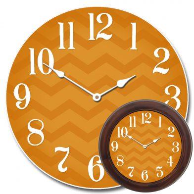 Chevron Orange Clock mix