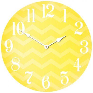 Chevron Yellow Clock