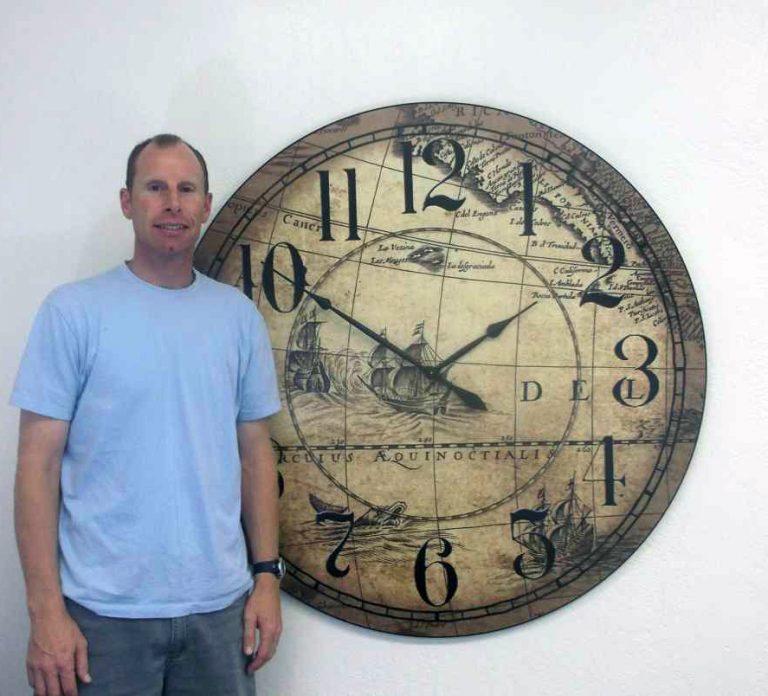 tan Map Clock