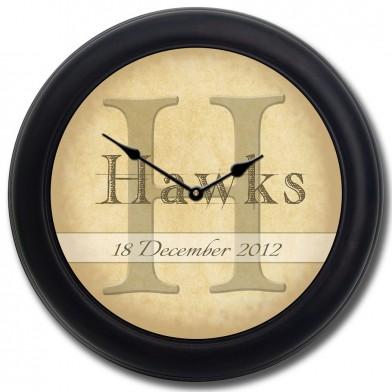 Wedding Clock blk frm