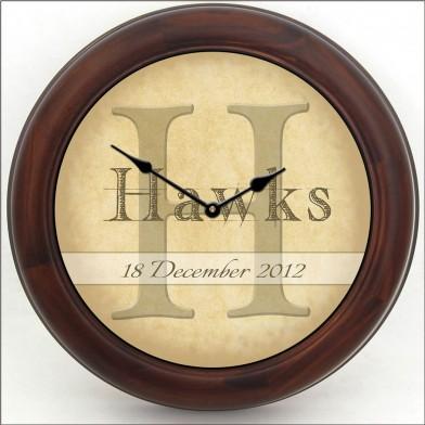 Wedding Clock brn frm