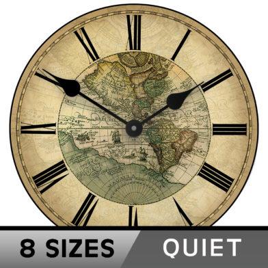 1596 World map clock new 8