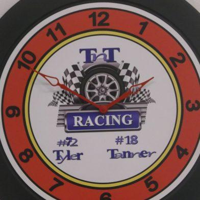 large logo wall clock
