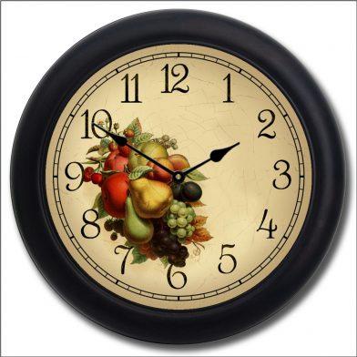 Cornicopia Clock blk frm