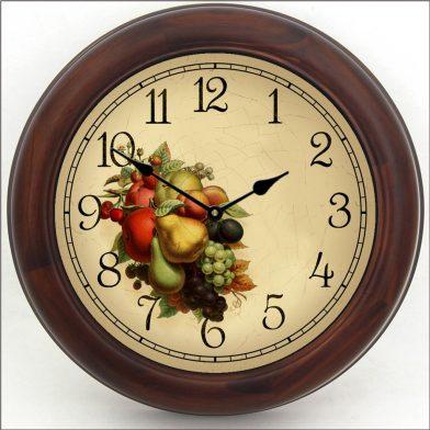 Cornicopia Clock brn frm