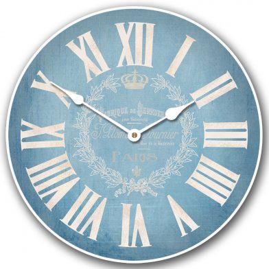 Linen Blue Clock