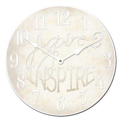 Aspire 2 Inspire White Clock