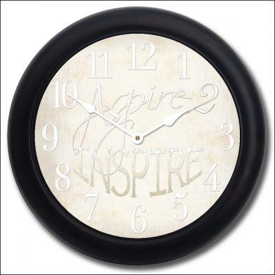 Aspire 2 Inspire White Clock blk frm