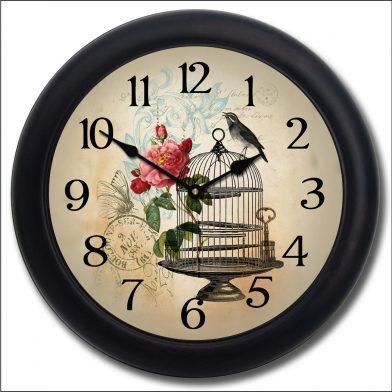 Free as a Bird Clock blk frm