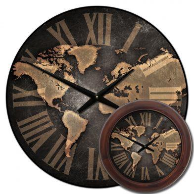 Industrial Map Clock mix